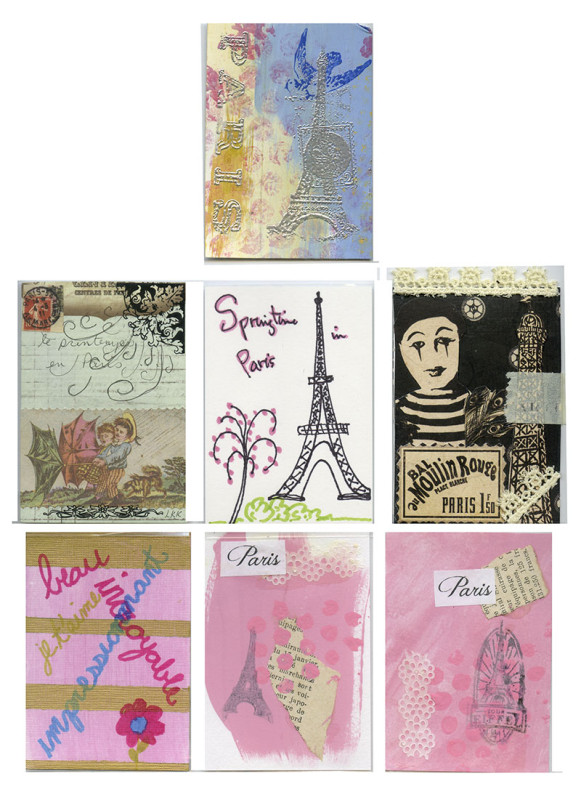 April 2013 ATCs Paris Theme
