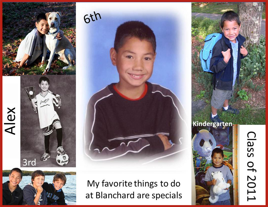 Photo Collage of Yearbook Page