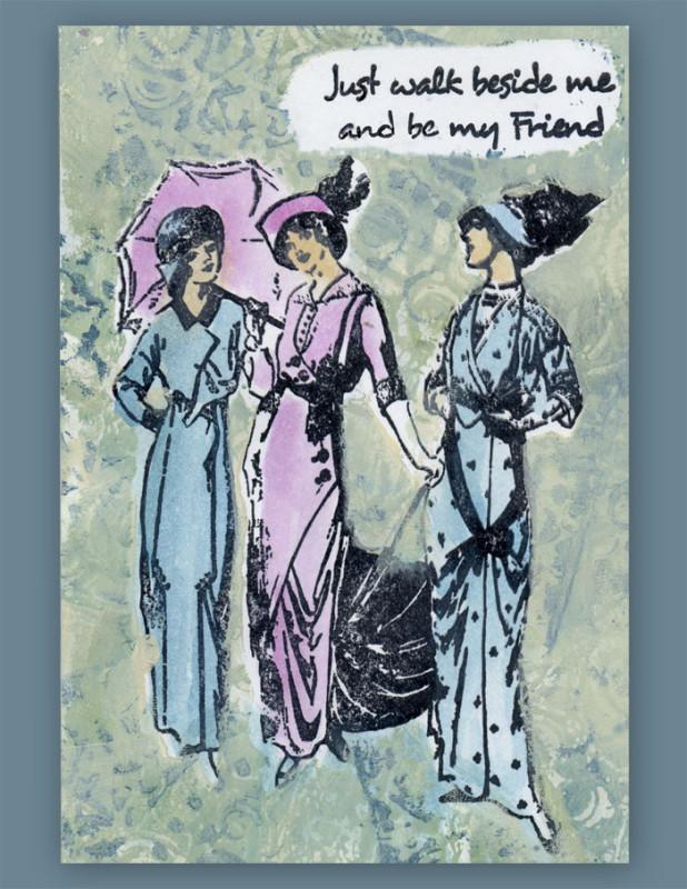 Gelli-Arts Friends Card 2012