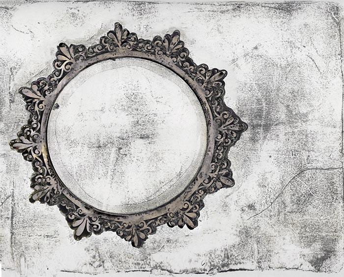 Grunge Circle Gelli Arts Print Final
