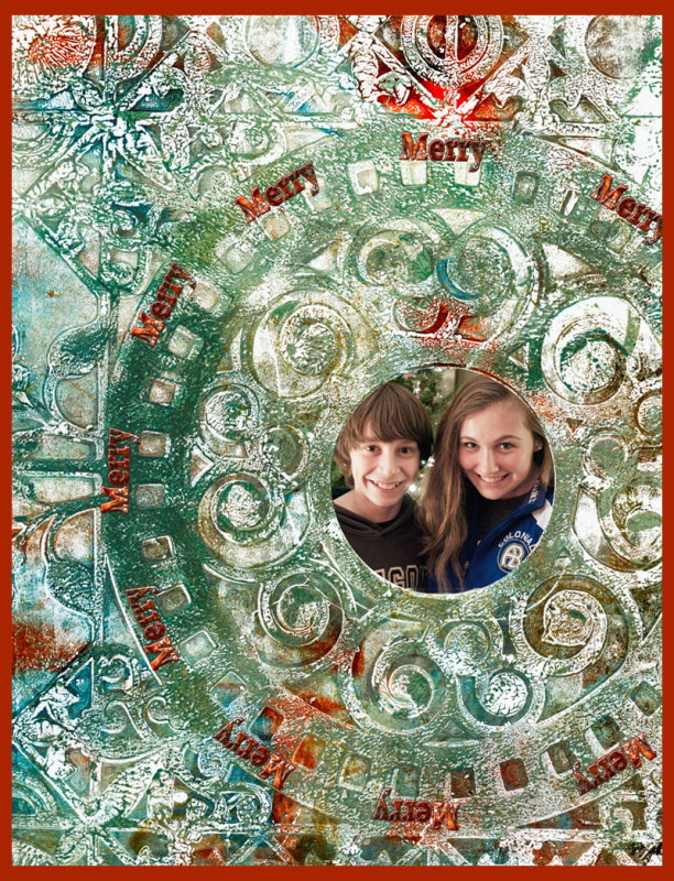 Gelli-Arts Holiday Card 2012
