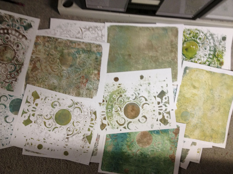 Gelli-Arts Holiday Prints
