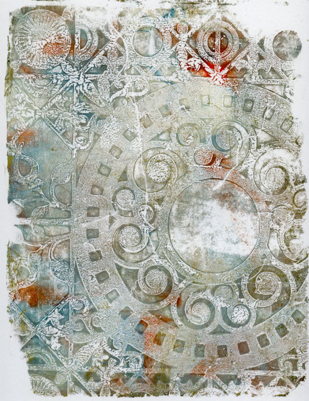 Gelli-Arts Holiday Print 1