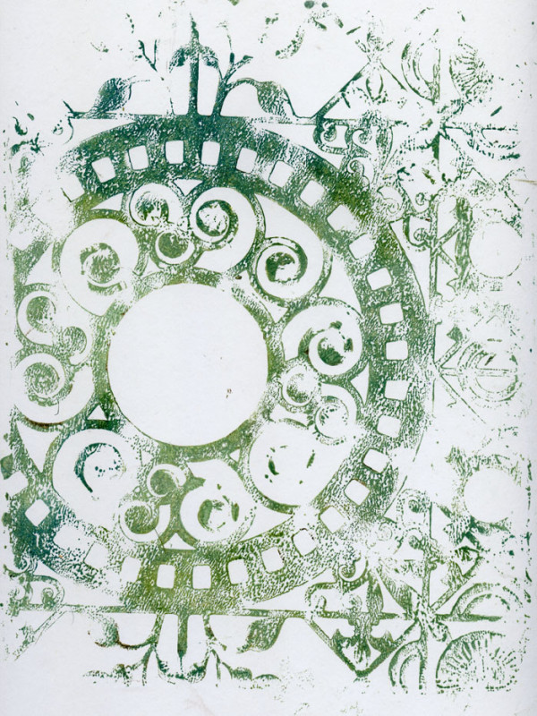 Gelli-Arts Holiday Print 2