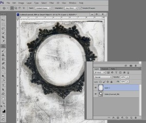 Grunge Circle Frame Selection tool