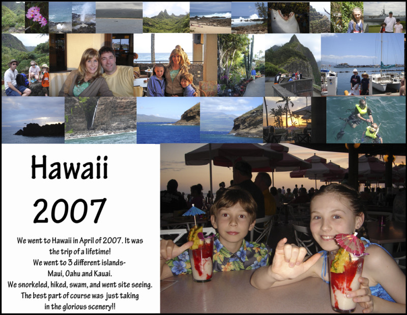 Photo Collage of Hawaii