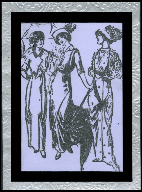 Rubber Stamp Sample of Old Fashioned Ladies