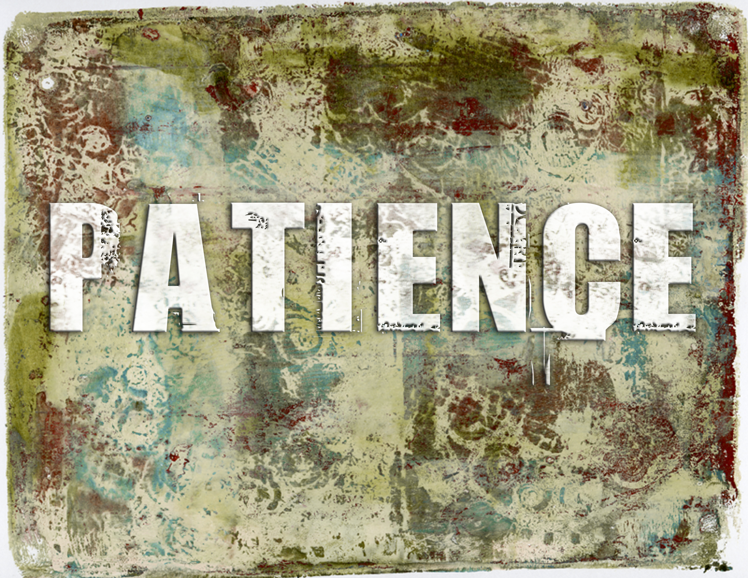 Patience is my One Little Word - Ursula's Digital Mixed Media