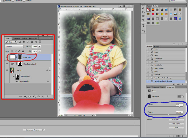 Smart filter vignette In Photoshop