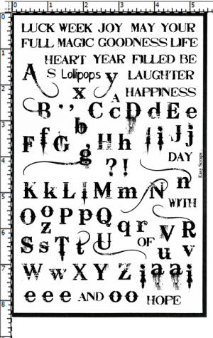Bleeding Cowboy Alphabet Rubber Stamp Set