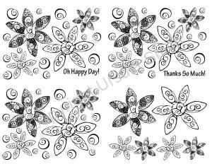 Doodle Flower A2 Card Fronts