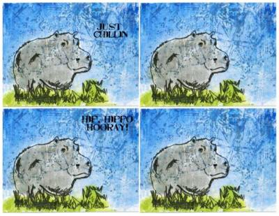 Happy Hippo A2 Card Fronts