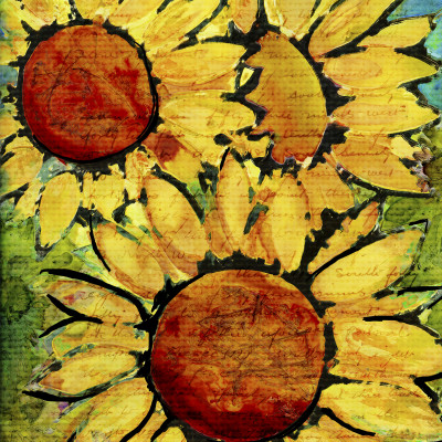 Sunflowers A2 Card Front