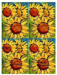 Sunflowers A2 Card Fronts
