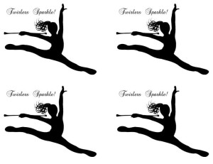 Baton Twirler Leaping A2 Card Fronts