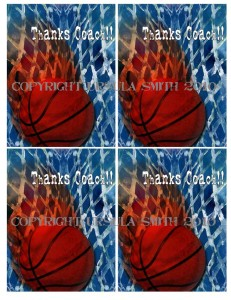 Basketball Coach Thankyou A2 Card Fronts