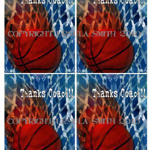 Basketball Coach Thankyou A2 Card Fronts