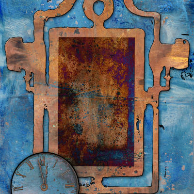 Grunge Frame Memories A2 Card Front