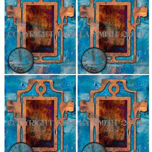 Grunge Frame Memories A2 Card Fronts