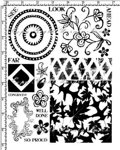 Leaf Background Large Paint Rubber Stamps