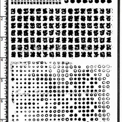 Mesh Screen and Grunge Dots Rubber Stamps