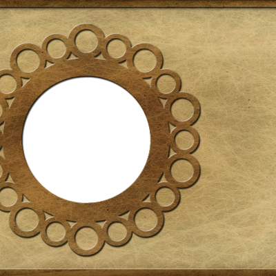 Old Paper Circle Frame A2 Card