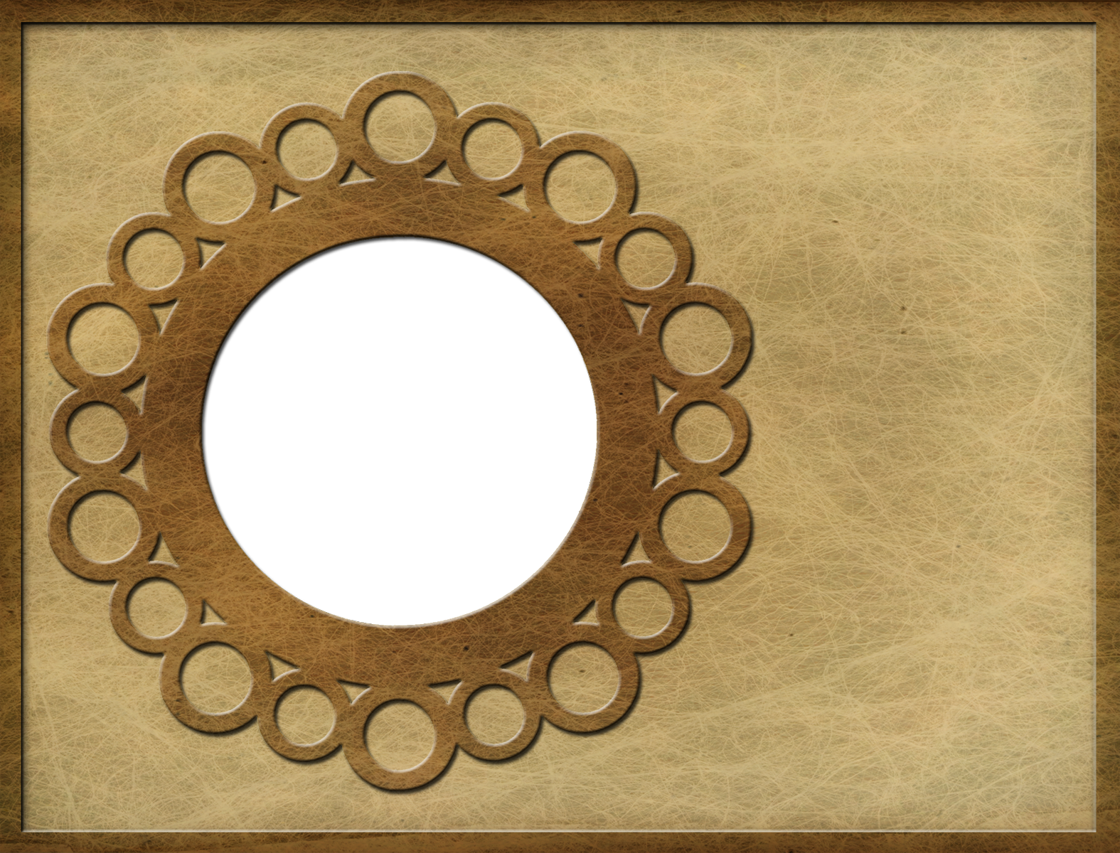 Old Paper Circle Frame A2 Card Front - Ursula\'s Digital Mixed Media