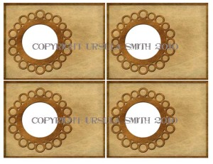 Old Paper Circle Frame A2 Cards