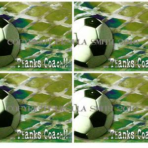 Soccer Coach Thankyou A2 Card Fronts