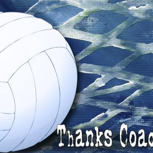 Volleyball Coach Thankyou A2 Card Front