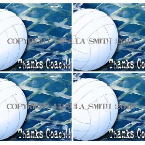 Volleyball Coach Thankyou A2 Card Fronts