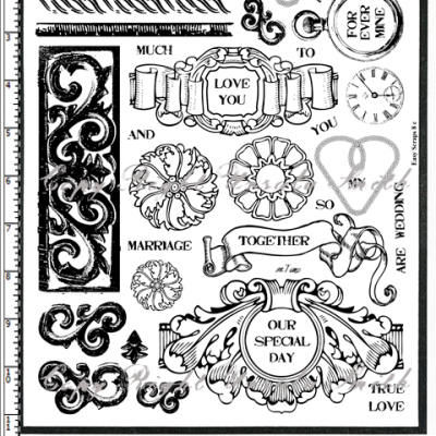 Wedding Anniversary Rubber Stamps