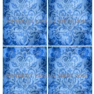 Blue Medallion Flourish A2 Card Fronts