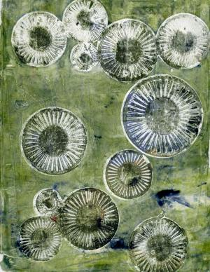 Gelli Art Print Spirals Final