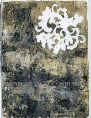 Gelli Art Charcoal Print 3