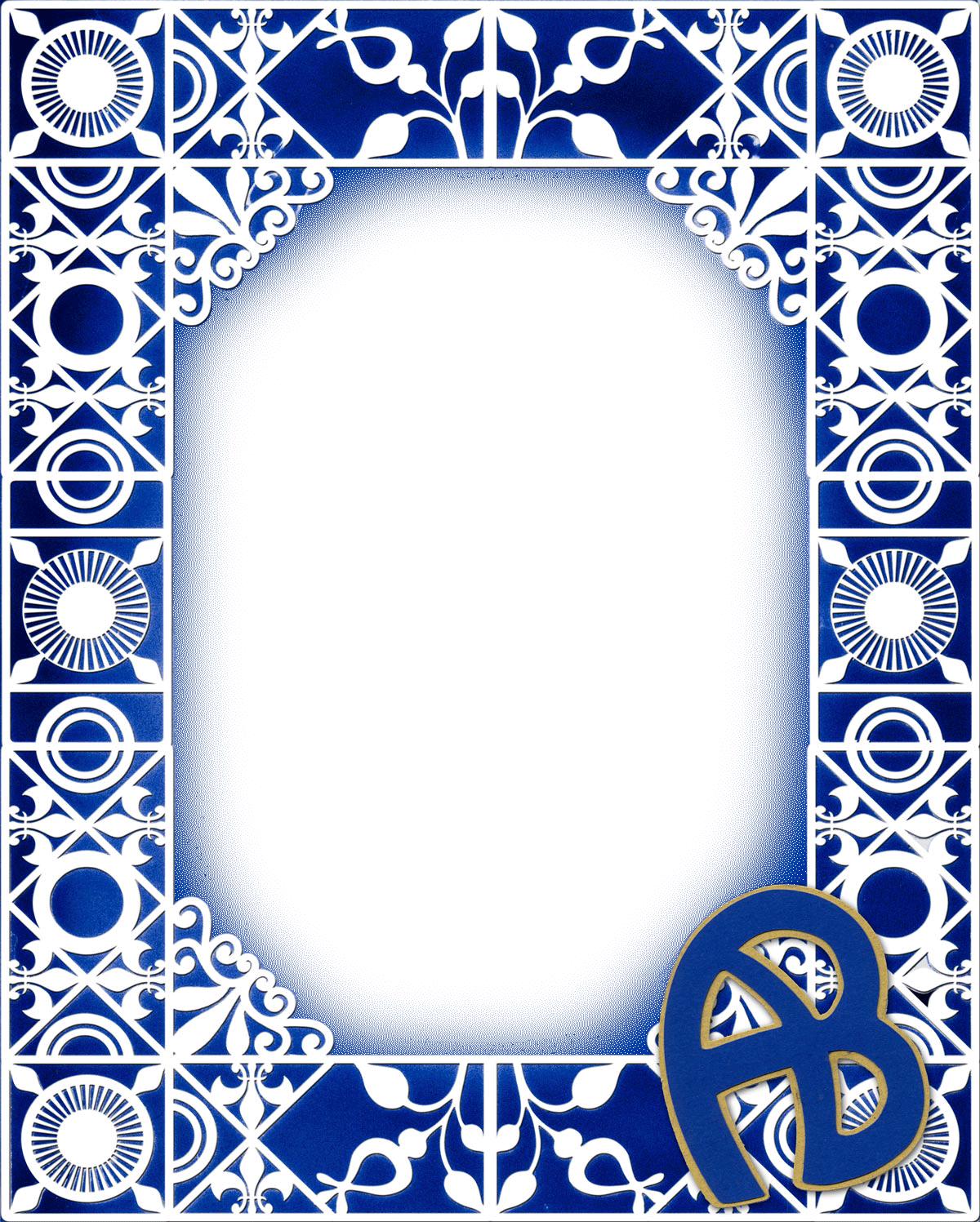 Acton boxoboro frame ursulas digital mixed media rosette stencil rectangle frame blue for web jeuxipadfo Image collections