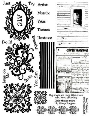 ATCs Rubber Stamps
