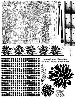Map Rubber Stamps