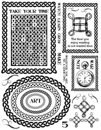 Woven Frames Rubber Stamps
