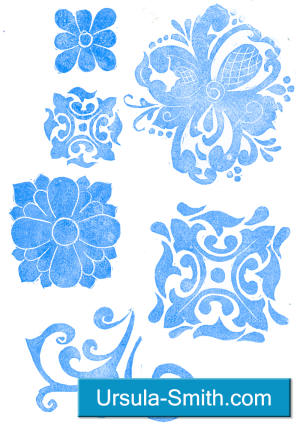 Hand Carved Stamps Sampling