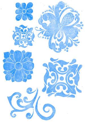 Hand Carved Stamps Sampling