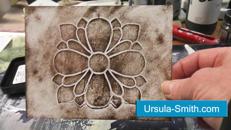 make your own embossing plate ursula s digital mixed media