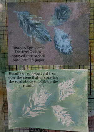 tone Paper Stencil Results with Distress Oxide Sprays