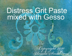 Yupo Grit Paste and Gesso Distress Inks