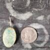 Green Gemstone Mold Ceramic Pendant Back
