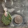 Green Glass Gemstone Mold Ceramic Pendant Back