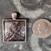Gray Metallic Dragonfly Ceramic Pendant