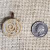 Bone Fossil Ceramic Pendant Front