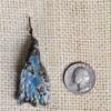 Blue Gemstone Mold Ceramic Pendant Front