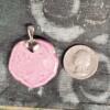 Pink Floral Ceramic Pendant Back